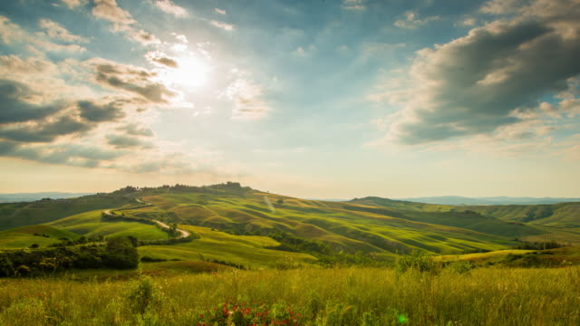 T/L 8K Cloudscape over the Tuscany countryside video