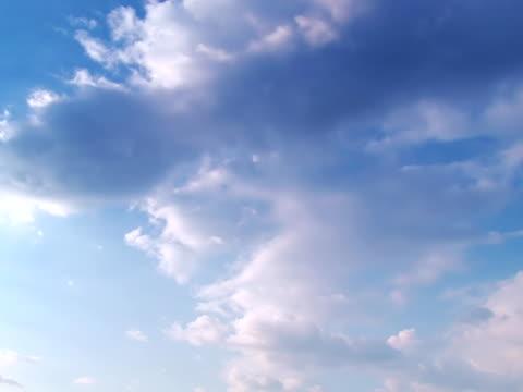 cloudscape - part 4 of four, time lapse - klip uzunluğu stok videoları ve detay görüntü çekimi