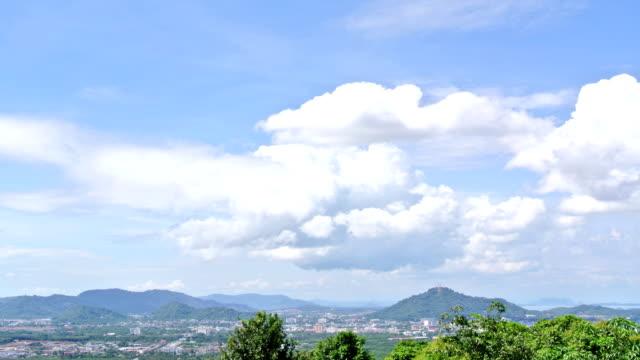 Cloudscape time-lapse against Phuket Cityscape island thailand video
