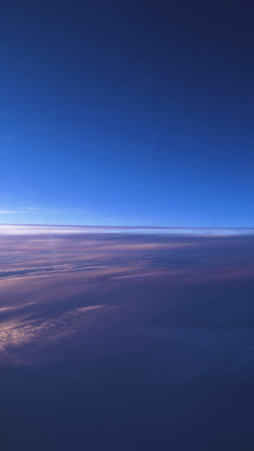 cloudscape view from an airplane window - vertical format video stock videos and b-roll footage