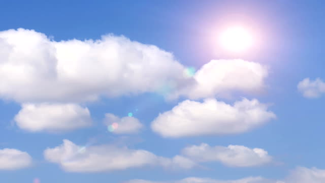 TIMELAPSE: Cloudscape with sunflare video