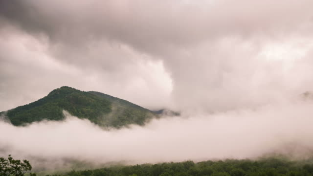 Cloudy Smoky Mountains Time Lapse video