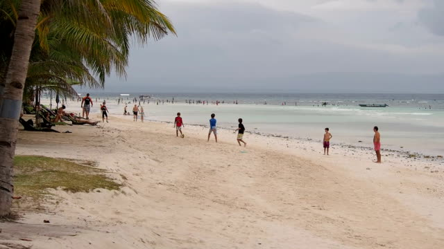 Cloudy weather at Dumaluan Beach, Philippines video