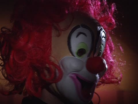 Clown mask with red hair video