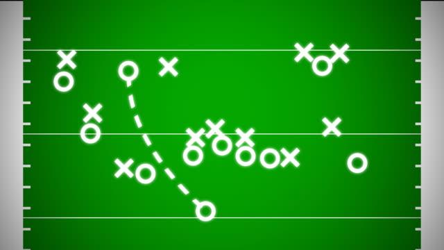 trener's animowane football playbook - football filmów i materiałów b-roll