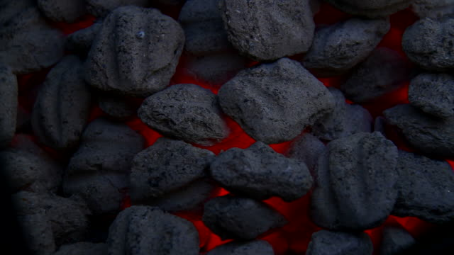 Coal fire Coal fire in grill and outdoor cooking footage coal stock videos & royalty-free footage