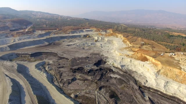 Coal Mine aerial 4K shooting in Turkey video