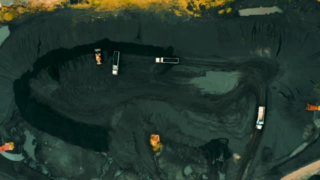 Kohlemineralgewinnung. Luftaufnahme. – Video