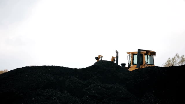 Coal mining industry and transportation video