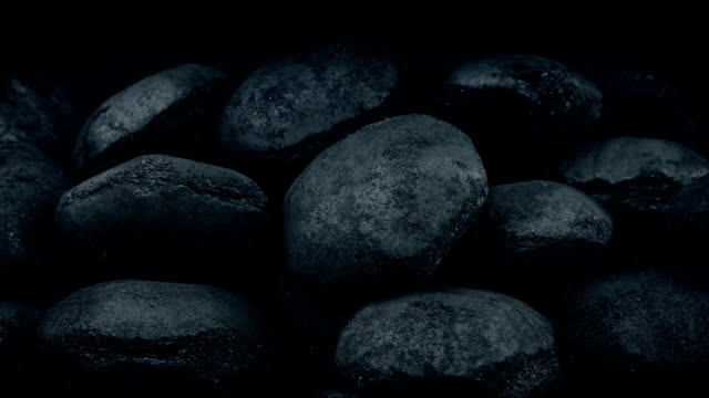 Coal Pile Moving Shot