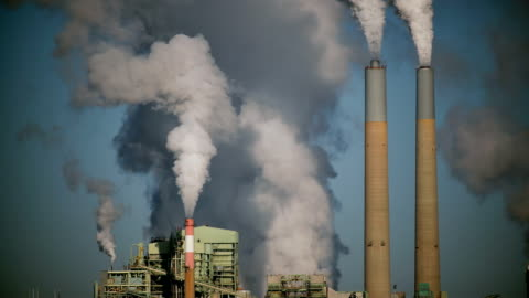 Coal Power Plant HD Coal plant working with blue sky. factory stock videos & royalty-free footage