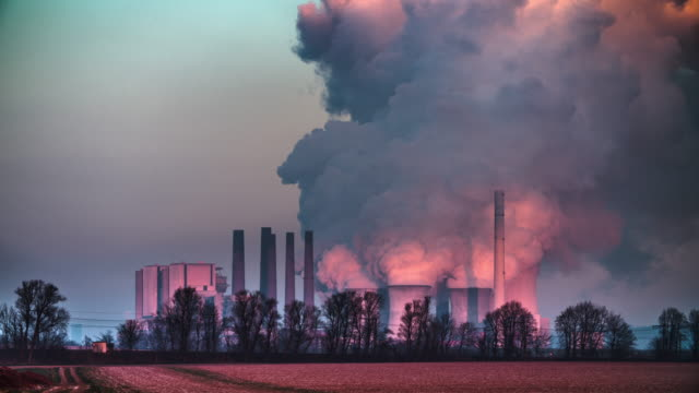 Coal Power Plant in Dramatic light video