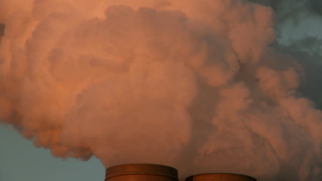 Coal Power Plant Smoke stack Global Warming Emissions video
