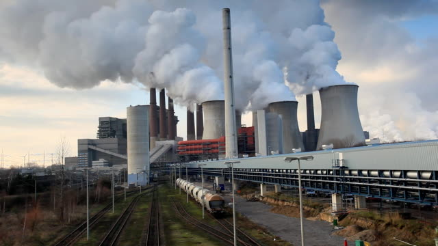 Coal Power Plant With Train Terminal video