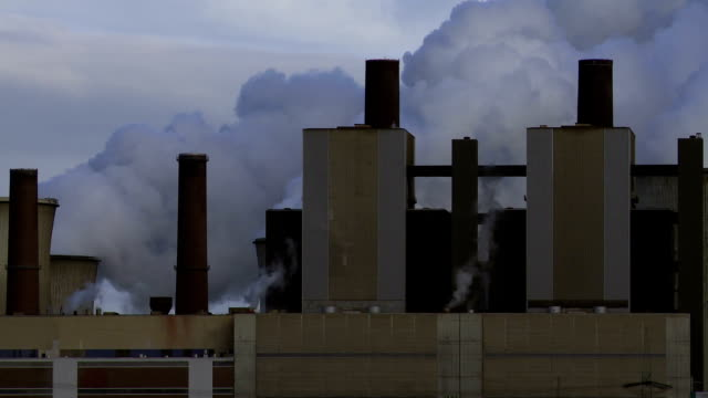 T/L Coal-fired Power Station At Work video