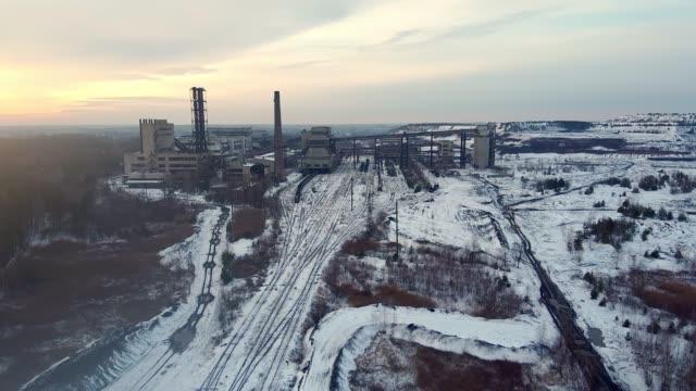 Coalmine, coal processing plant aero video