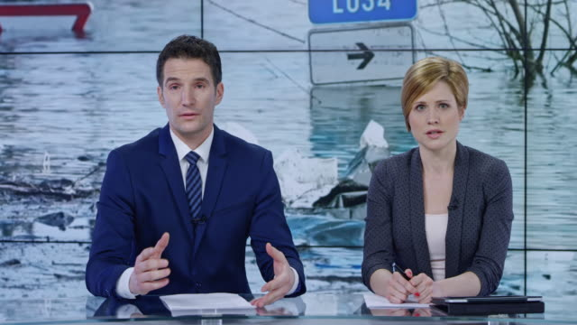 LD Co-anchors presenting the news on recent severe flooding video