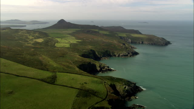 Coast Around Abereiddi Bay  - Aerial View - Wales, County of Pembrokeshire, United Kingdom video