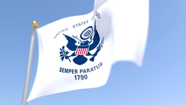 vídeos y material grabado en eventos de stock de bandera de la guardia costera de ee. uu. - día del trabajo