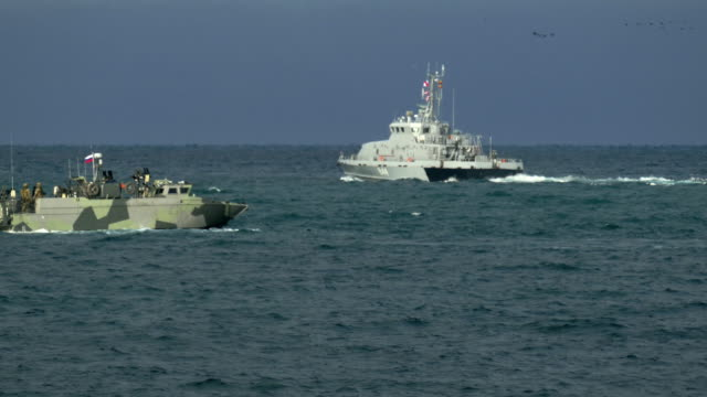coast guard ships at sea