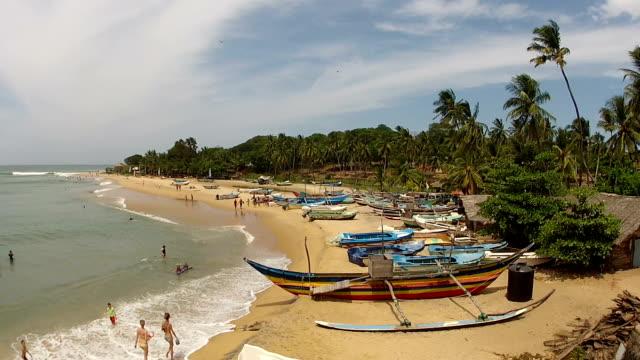 AERIAL: Coast in Sri Lanka AERIAL: Coast in Sri Lanka sri lanka stock videos & royalty-free footage