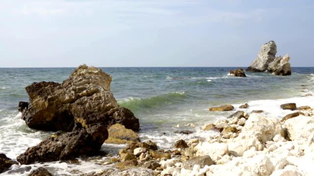 coast of black sea in crimea tarhan qut video