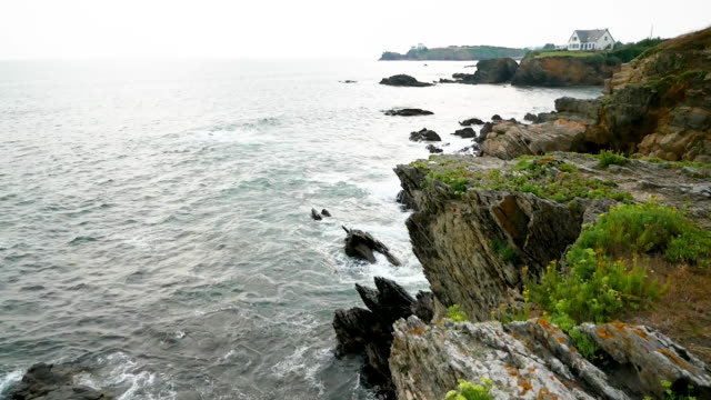 Coast of Quiberon, Cote Sauvage, Brittany, France video