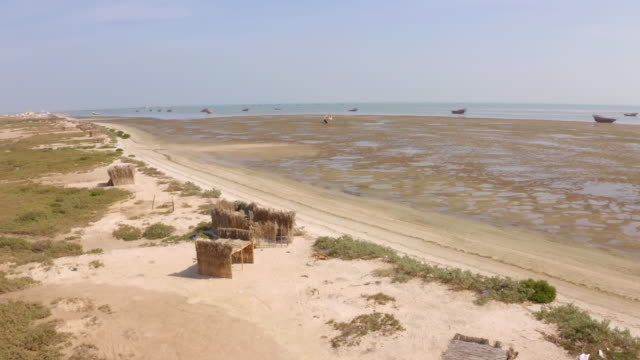 AERIAL Coast of the Masirah Island