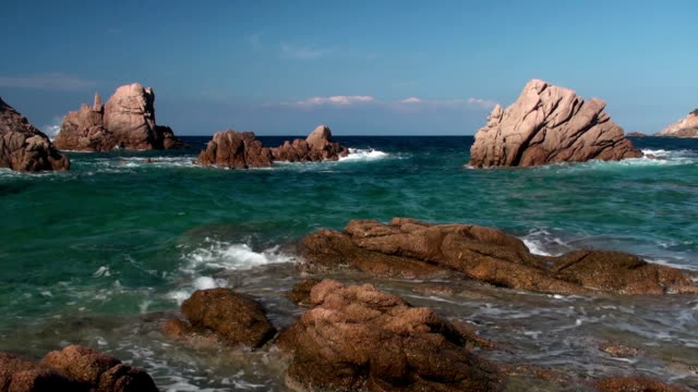 Coast Coast in Sardinia, Italy, with lower speed midday stock videos & royalty-free footage