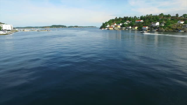 Coastal life on the fjords of Kragero video