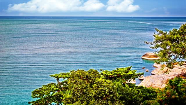 Coastline and wide ocean
