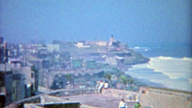 1964: Coastline from the San Juan Old Fort looking across the island. video