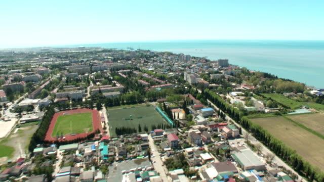 Aerials. Russia - Sochi 2012: Coastline of the city video