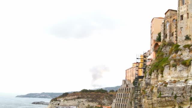 coastline of tropea in the south of italy - video di tropea video stock e b–roll