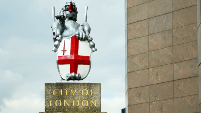TU Coat Of Arms Of The City Of London (4K/UHD to HD) video