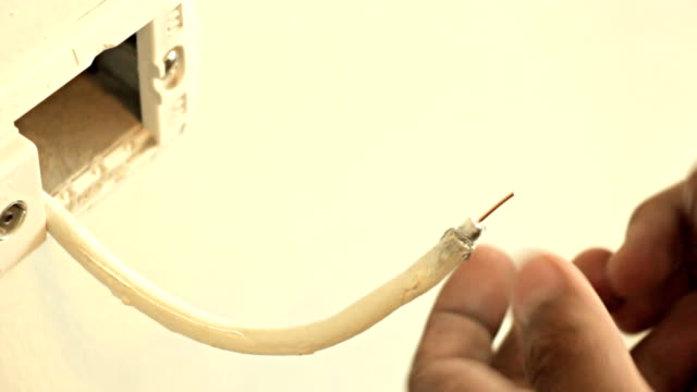 Coaxial Connector RG6 cable. video