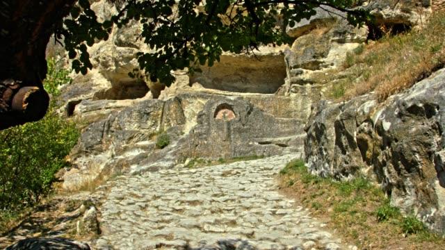 Cobblestone ancient road video