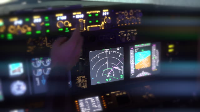 Cockpit Cockpit, 4K Cockpit Radar, View Of Airline Pilot, Pilots Flying Cockpit View, Light private airplane stock videos & royalty-free footage