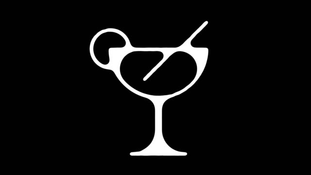 Cocktail Recipes Blackboard Line Animation with Alpha Cocktail recipes motion graphic blackboard line icon animation. Alpha channel will be included when downloading the 4K Apple ProRes 4444 file only. tonic water stock videos & royalty-free footage