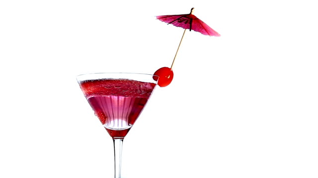 Cocktail Pink cocktail cherry stock videos & royalty-free footage