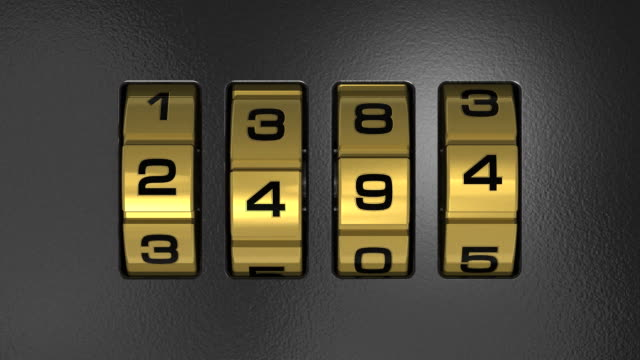 Code lock with number '2012' video