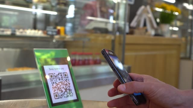 QR code payment is a contactless payment method where a payment is performed by scanning a QR code from a mobile app