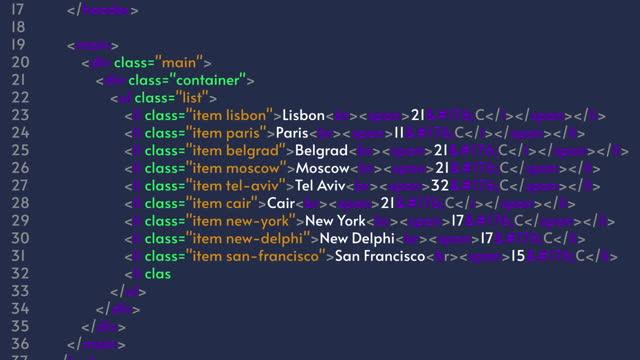HTML code, programmer Java language. Program code animation on blue background