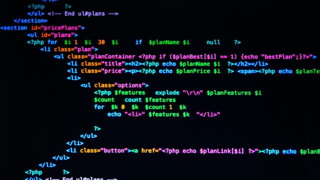 4K : Code Programming UltraHD (4K) : Code Programming coding stock videos & royalty-free footage