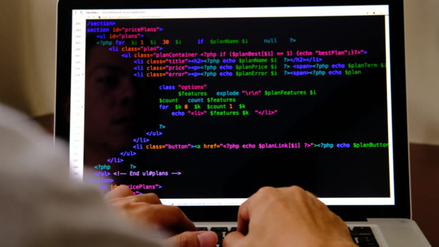 code programming - crittografia video stock e b–roll