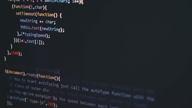 vídeos y material grabado en eventos de stock de escritura de código html - codificar