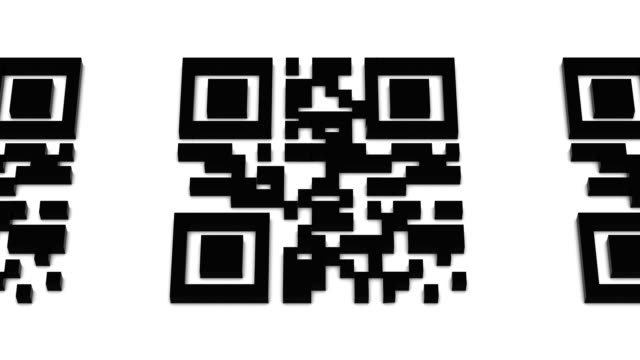 QR Code Zoom Back Vertigo Effect video