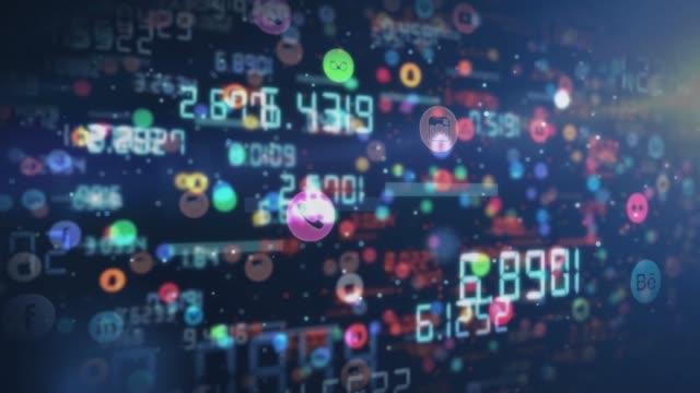 4k-codes codes likes und aktien von social media hintergrund - wachsamkeit stock-videos und b-roll-filmmaterial
