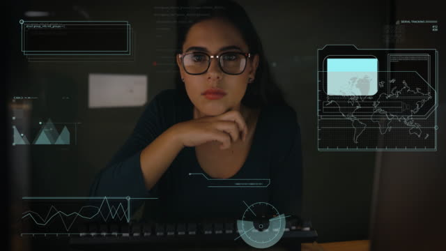 Coding is a language she's excellent in