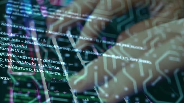 Coding Network Security, Cyber Security, Digital Protection, Computer Hack Background